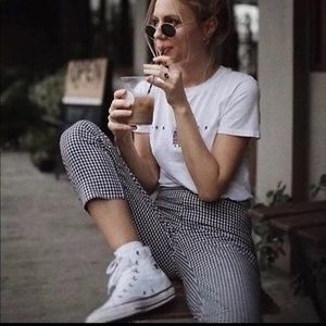 Brandy Melville gingham Tilden trouser pants